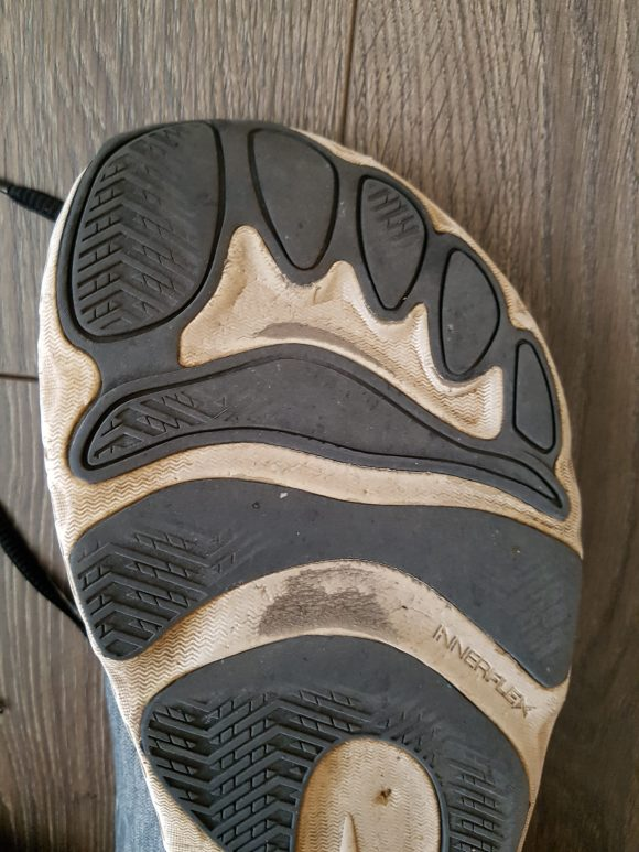Altra Escalante forefoot outsole after nearly 2000km.